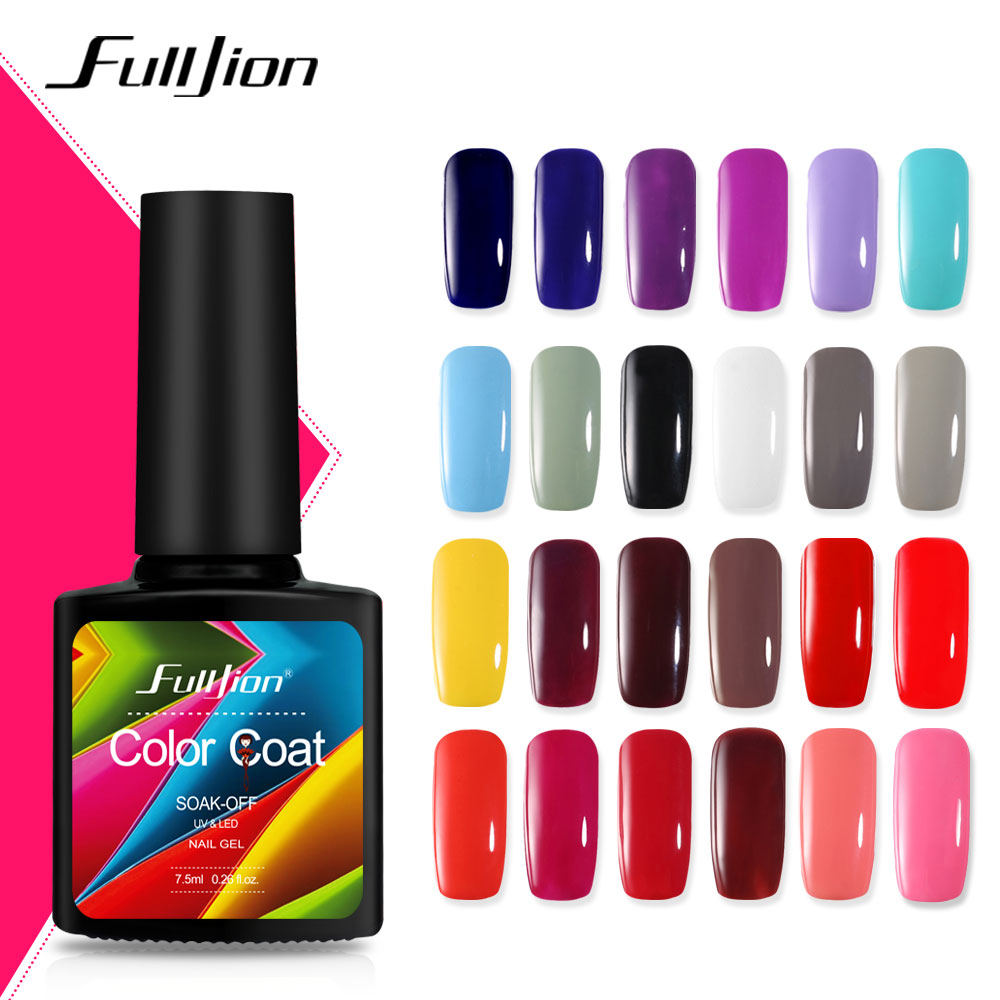 Nail Gel Polish Coat Long Lasting Shimmer Varnish Manicure
