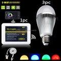 Mi свет E27 9 Вт RGBW RGB + Холодный Белый Светодиодные лампы затемнения лампы Контроллер Wi-Fi ibox Поддержка iPhone iOS Android Смартфон