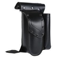 Motorcycle Black Crash Bar Saddlebag Guard Bag With Water Bottle Holder For Harley Touring Road King Electra Glide