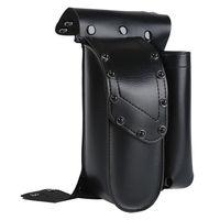Motorcycle Black Crash Bar Saddlebag Guard Bag With Water Bottle Holder For Harley Touring Road King Electra Glide Road Glide