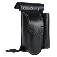 TCMT Motorcycle Black Crash Bar Saddlebag Guard Bag With Water Bottle Holder For Harley Touring Road King Glide FLH FLTR FLHR
