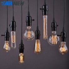 Bombilla Edison E27 40W incandescente Retro lámpara 220V ST64 A19 T45 T10 G80 G95 ampolla Vintage bombilla Edison filamento bombilla