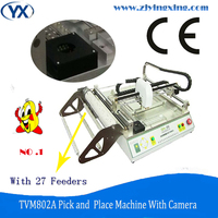 ミニsmd/ledはんだ機smtピック&プレース機smtチップマウンター、高精度カメラとフィーダー