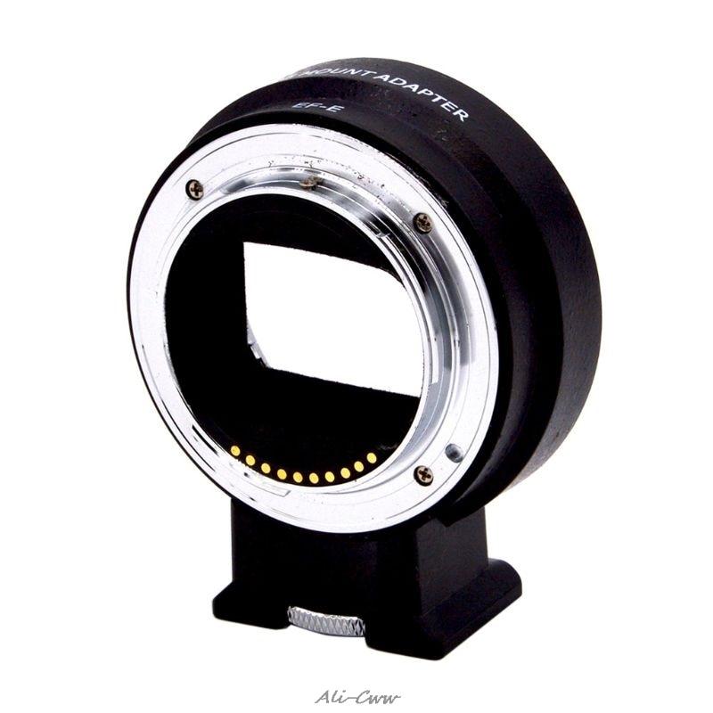 Mise au Point automatique EF-NEX Adaptateur de Monture D'objectif pour Canon EOS EF EF-S Lentille pour Sony NEX Monture E NEX A7 A7R A7s NEX-7 NEX-6 5 Caméra