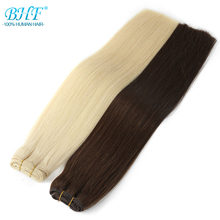 "BHF 100% Human Hair Weaves Straight Russian Remy Natural Hair Weft 1piece 100g 18""20"" 22"" 24' Black Brown Blonde Color(China)"