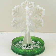 2019 12Hx8Dcm White Magic Growing Paper Snowflake Tree Mystically Snowflakes Flutter Crystals Snow Flakes Trees Kids Toys Funny