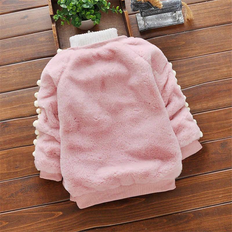 BibiCola เด็กทารกเสื้อกันหนาวฤดูหนาวทารกแรกเกิดแฟชั่นหนากำมะหยี่เสื้อกันหนาวสำหรับ bebe ทารกสบายๆเสื้อผ้าเด็ก
