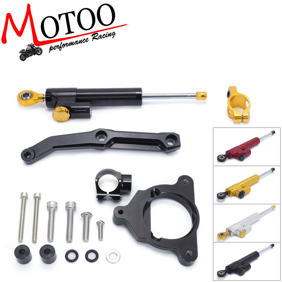Motoo -FREE SHIPPING For Kawasaki Z800 Z 800 2013 2014 2015 16 Motorcycle Aluminium Steering Stabilizer Damper Mounting Bracket for kawasaki z750 z800 z 750 z 800 universal motorcycle accessories stabilizer damper steering mounting all year
