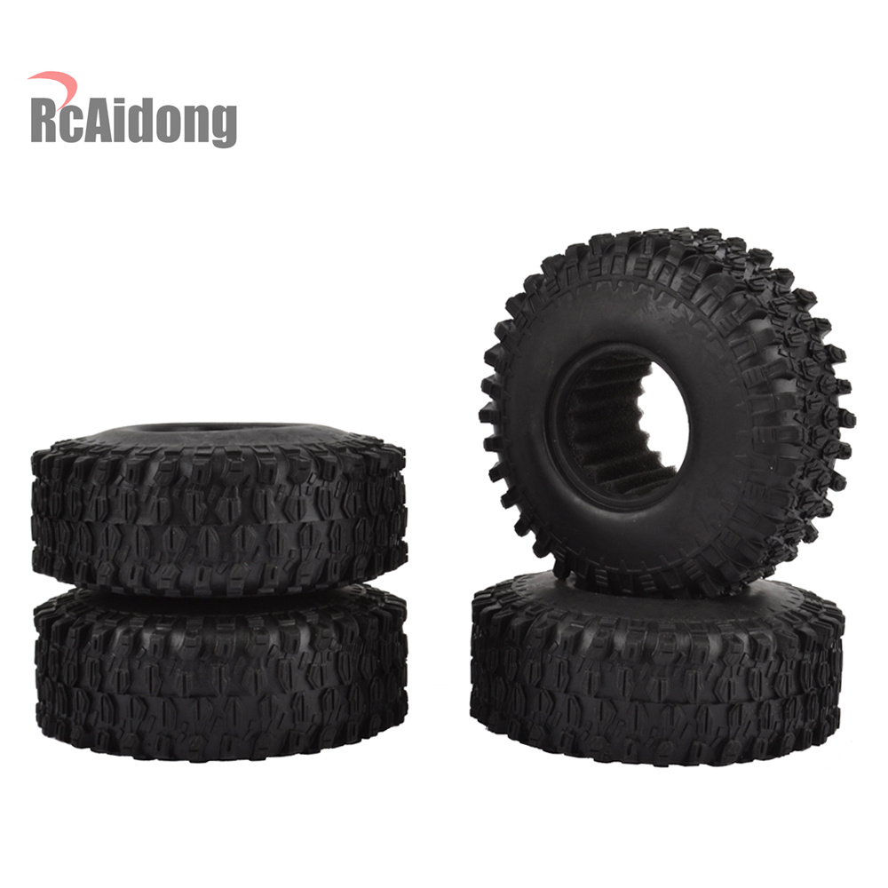 4Pcs 1.9 Inch 120mm Rock Crawler Tires for 1:10 RC Rock Crawler Axial SCX10 90047 D90 D110 TF2 Traxxas TRX-4 AX-5020 4pcs 120mm 1 9 rubber rocks tyres wheel tires for 1 10 rc rock crawler axial scx10 90047 d90 d110 tf2 traxxas trx 4