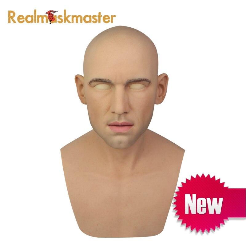 Realmaskmaster взрослых Латекс Реалистичная Маскарад силиконовые маска для Человек анфас вечерние Вечерние Маски Фетиш натуральной кожи