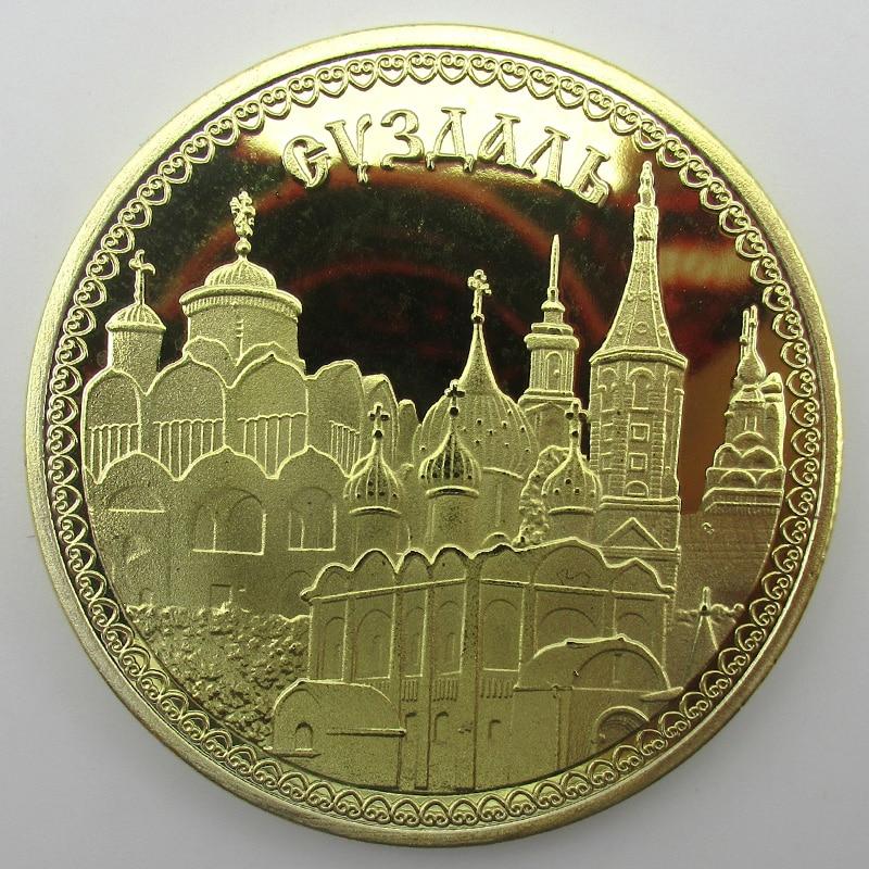 Medaglia Sovietica 2016 Monete Russian New D'oro Suzdal D'oro Città 4460qnS