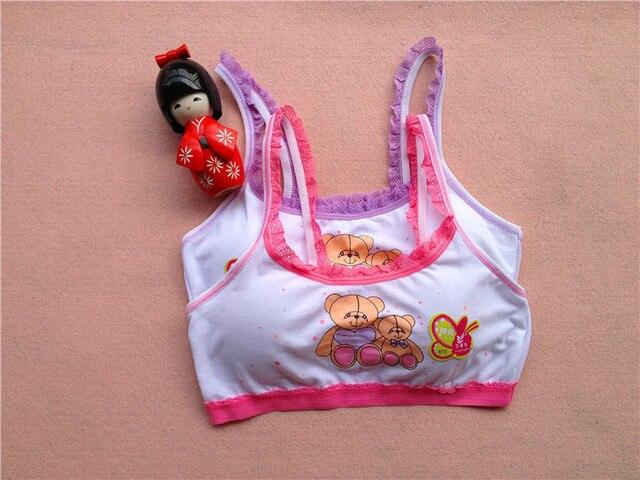 cc61bfebb40b1 100% cotton young girls training bra 8-13 years old children bras Condole  belt vest kids bra camisole for child