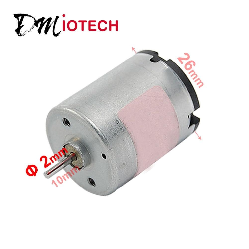 Shaft Diameter 2mm 5500rpm Dc 12v Mini Motor For Electric
