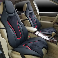 Car Seat Cover microfiber leather with flannel Universal Size Luxury Cushion For Mercedes Porsche Panamera 911 Audi Q5 Volkswage