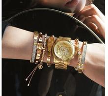 New Design Brand Metal Bead Flexible Leather Bracelets & Bangles Luxury Korly Letter For Women Unisex Bracelet Jewelry 2055