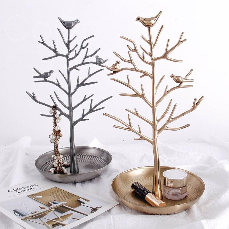 Cocostyles InsFashion top qualité bijoux faits à la main affichage en laiton plat avec des branches et des oiseaux pour la bijouterie de mode