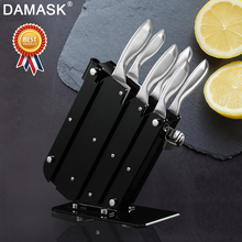 Damask Stainless Steel Knives Set Japanese Chef Kitchen Knife With Stand Holder Block Handle Meat Cleaver