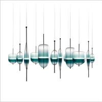 Creative Hadnmade Designer Flowt Lake Glass Led Pendant Light For Living Room Restaurant Bar Deco S1/S2/S4/S5 Lamps 1958