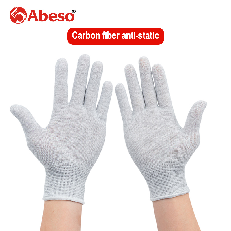 1Pair Working Safety Glove Anti-static Carbon Fiber Waterproof Oilproof Breathable  Repair Welding  Hand Protection Glove