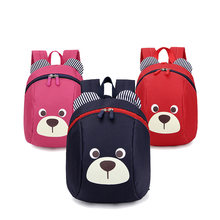 Age 1-3 Toddler Backpack Anti-lost Kids Baby Bag Cute Animal Dog Children Backpack Kindergarten Bear School Bag Mochila Escolar(China)