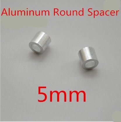 200 Stks/partij Hoge Kwaliteit M5 5mm Aluminium Kolom Ronde Spacer
