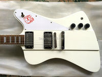 Free shipping, the store opened a surprise gift,Accept custom. Thunderbird white electric guitar.Welcome to DK factory store