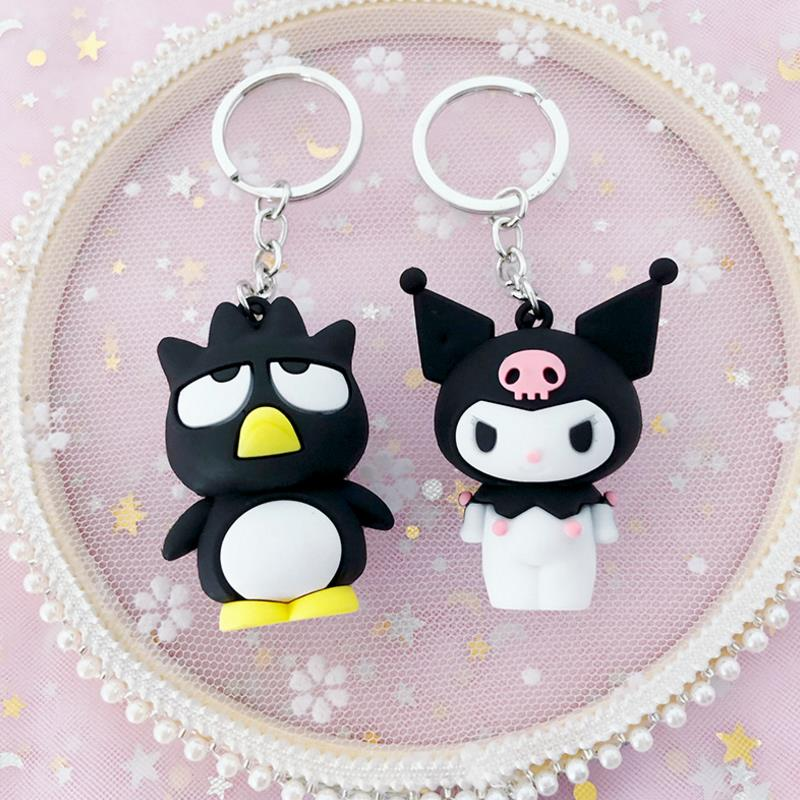 1 Pc Hot Sale Sanrio Series My Melody Pudding Cinnamoroll Dog Cool Penguin Keychain Bag Pendant For Girls Gift Figure Toys