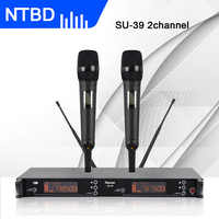NTBD Stage Performance Church Home KTV Party SU-39 UHF Professional Dual Wireless Microphone System Lavalier/Headset Microphone