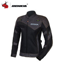 BENKIA Summer Women's Motorcycle Racing Suit black Motocross Jacket Breathable Mesh Riding Clothes Ropa Moto HDF-JS-W11
