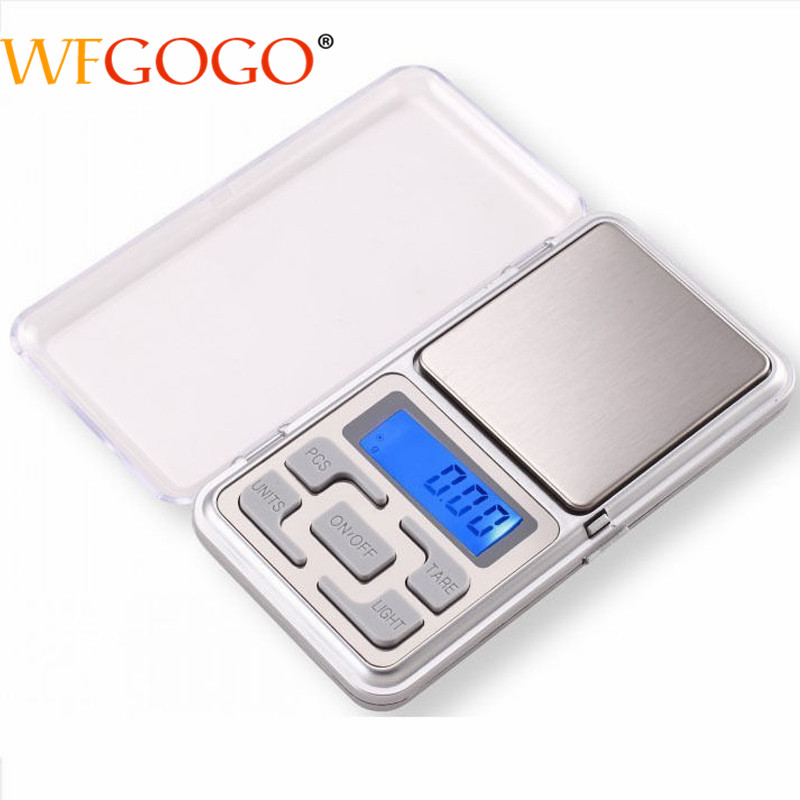 WFGOGO Mini Electronic Portable Jewelry Scale pocket Scales Digital Scale display of jewelry with retail box 100g/200g/300g/500g