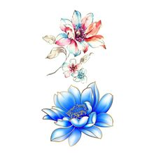 Flower Temporary Tattoos for Women Hand Tattoo Sticker Fashion Body Art Waterproof Arm Fake Tattoo Paper #2(China)