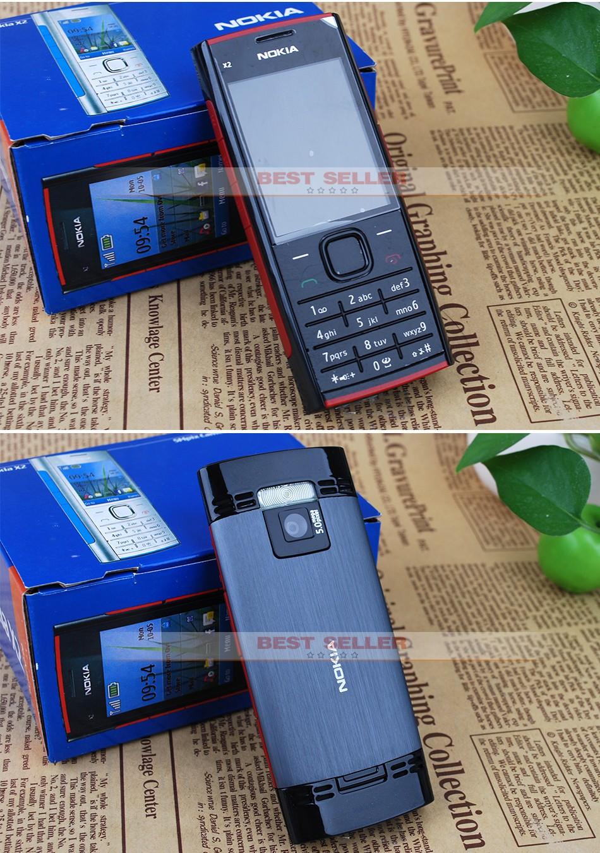Refurbished phone Nokia X2-00 Bluetooth FM JAVA 5MP Cell Phones Free Shipping black 5