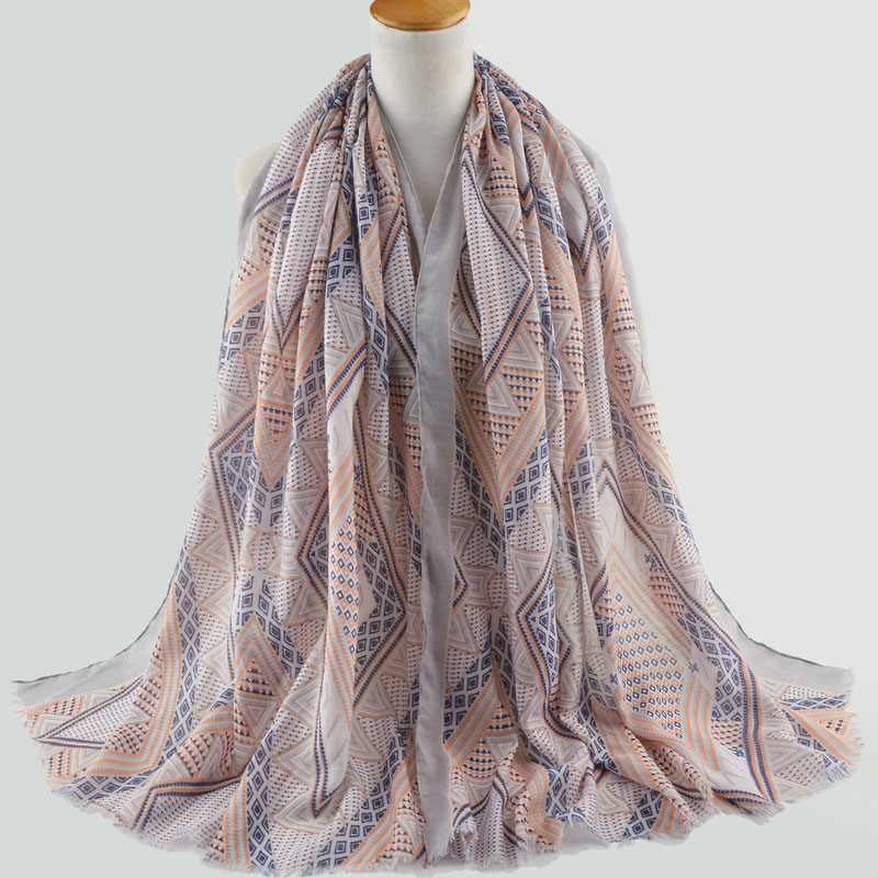 Winter 2019 Cotton Plain Scarf Cotton Embroidery Scarf Muslim Hijab