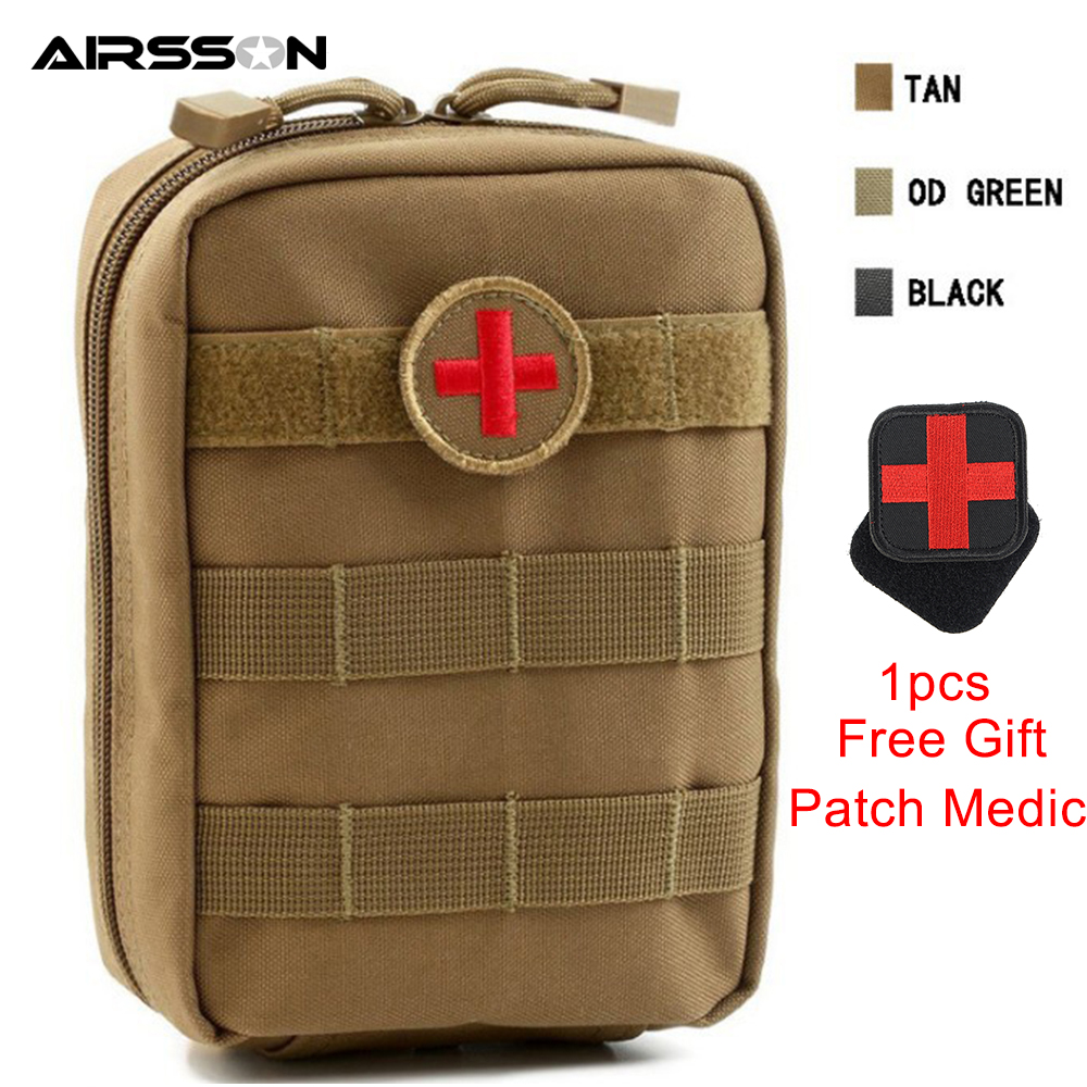 Tactical Molle Medical First Aid Pouch Bag Emergency with Cross Chapter Military Utility Durable Survival Hunting Waist Bag