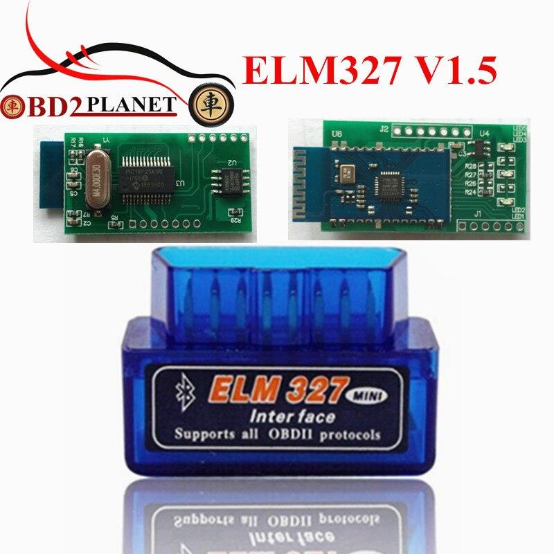 Prix pour 2017 Super Mini ELM 327 Bluetooth V1.5 OBD II Adaptateur Auto Code Scanner OBD2 Mini ELM327 V1.5 Bluetooth Avec PICI8F25K80 puce