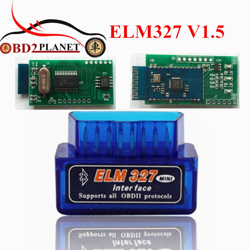 2017 Super Mini ELM 327 Bluetooth V1.5 OBD II Adapter Auto Code Scanner OBD2 Mini ELM327 V1.5 Bluetooth With PICI8F25K80 Chip