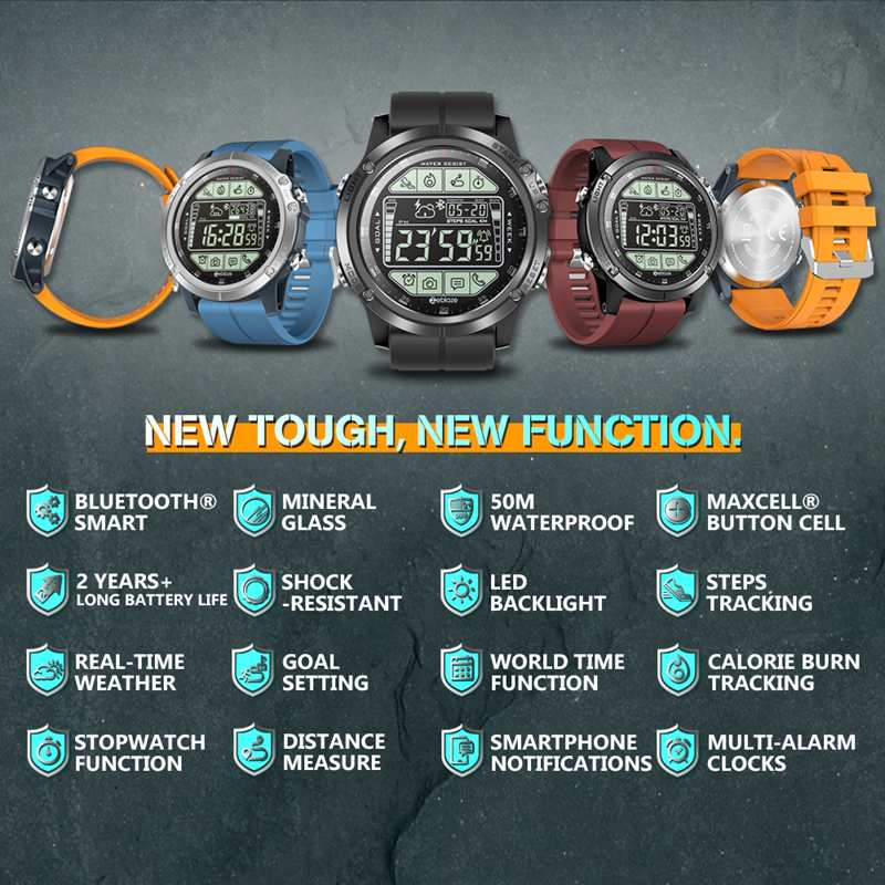 Image 2 - 2019 Upgrade Zeblaze VIBE 3 S 3S Rugged Outdoor Smart Watch 50M Waterproof 5ATM Smartwatch Real time Weather Fitness Tracker Men-in Smart Watches from Consumer Electronics