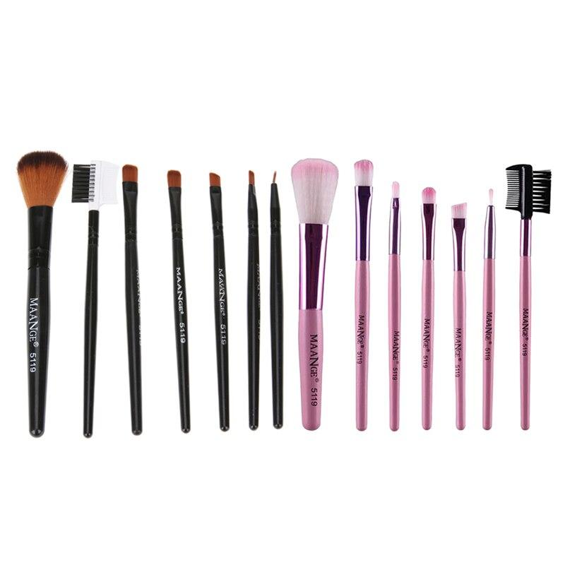 7pcs kits Professional Nylon Makeup Brushes Set Cosmetics Foundation Brush Tools For Face Powder font b
