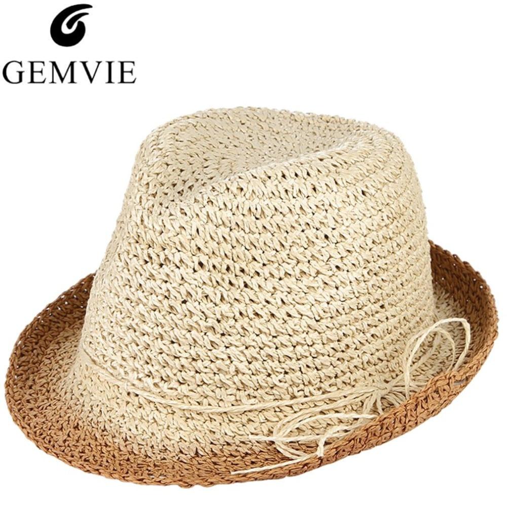 Artesanal Crochê Pura Palha Chapéus Dos Homens Chapéu de Sol de Verão Cap  Praia Respirável Masculino 4f17c201a4