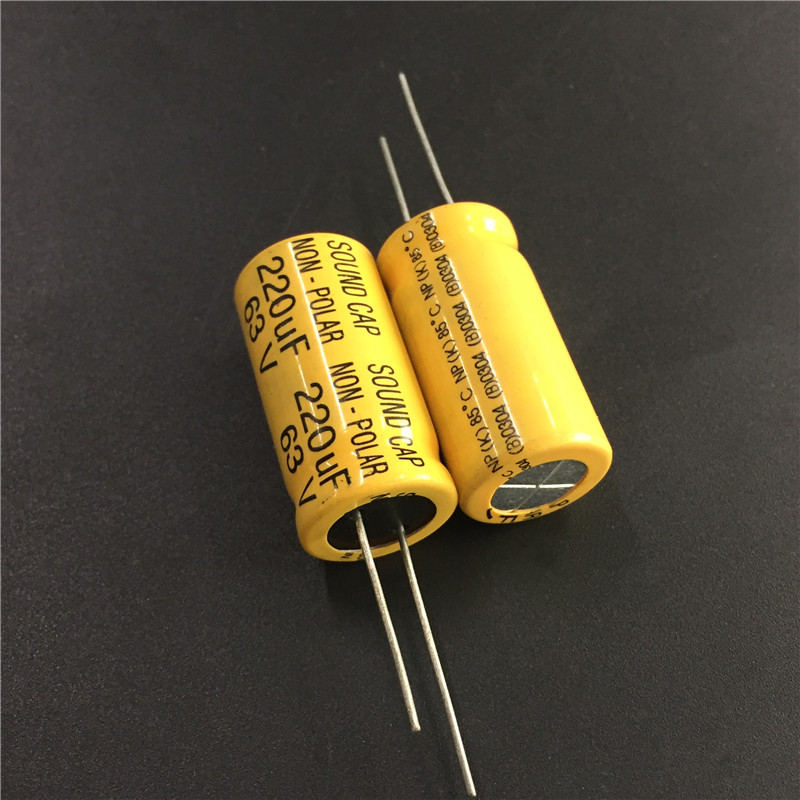 5pcs 63V 220uF 63V220uF SOUND CAP NP 16x30mm High quality capacitors