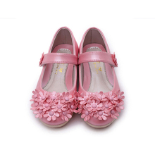 Girls shoes 2016 Spring autumn Floral Girls Shoes Princess Single Shoes For Girl Kids Children Fashion PU Sneakers With Flowers
