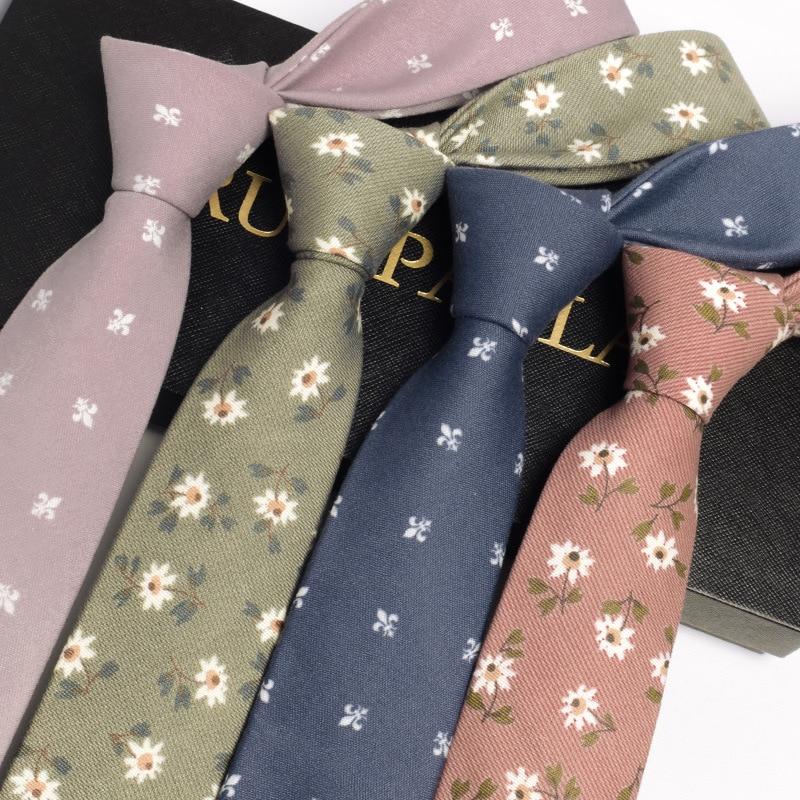 Mode 6 CM Schlank Mens Ties Set Hisdern Krawatte Baumwolle Herren Krawatten Krawatten Mens Zubehör 2019