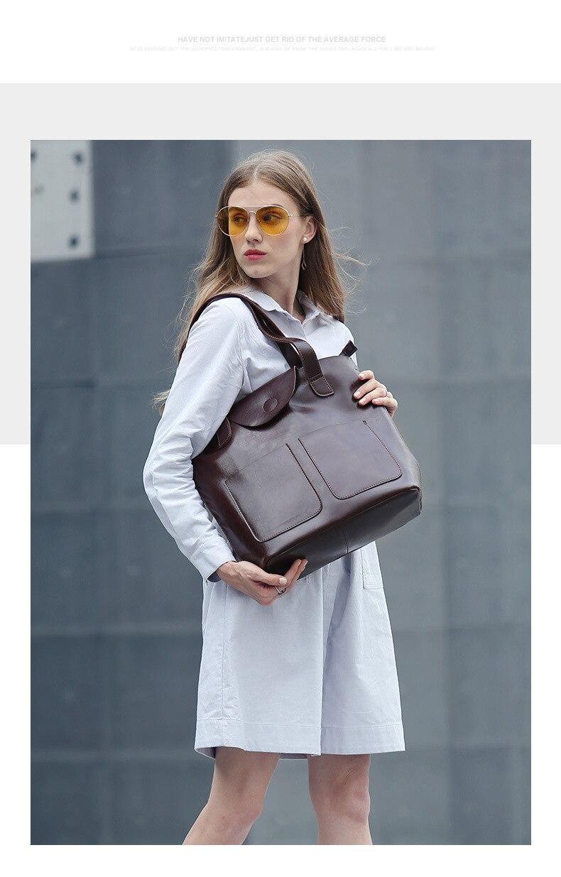 Dienqi grande bolsa feminina bolsas de couro