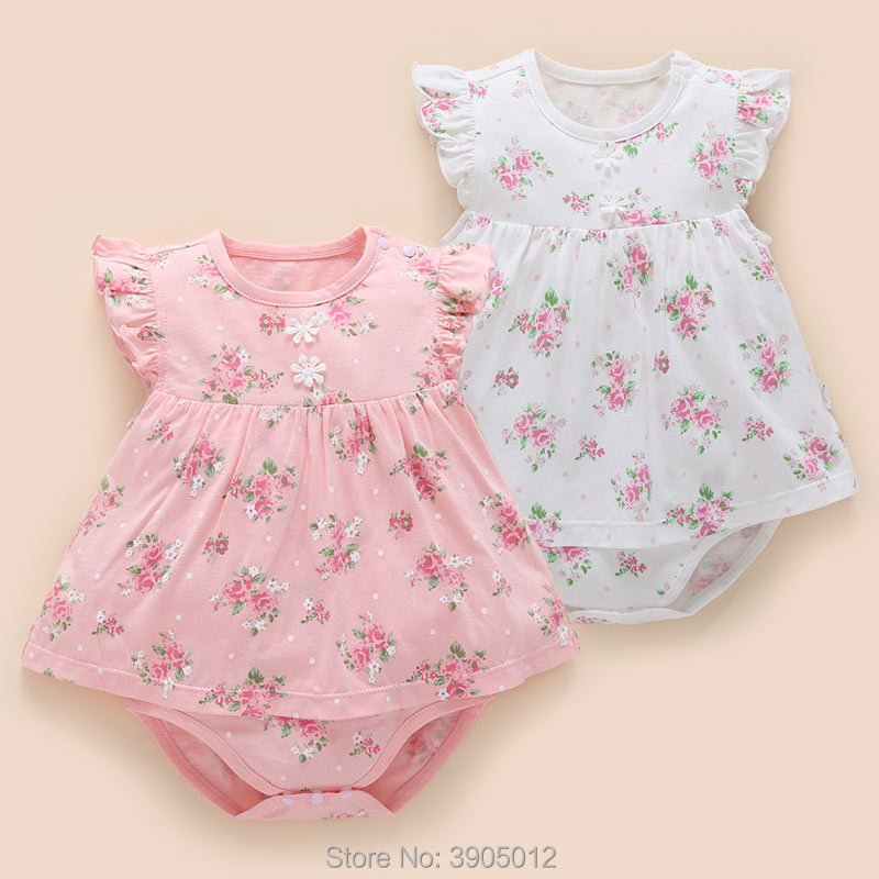 2018 Hot Sale Vestido Infantil Baby Girl Flower Dress Floral Female Summer 1 Year 3 Months Princess Newborn A-line Freeshipping
