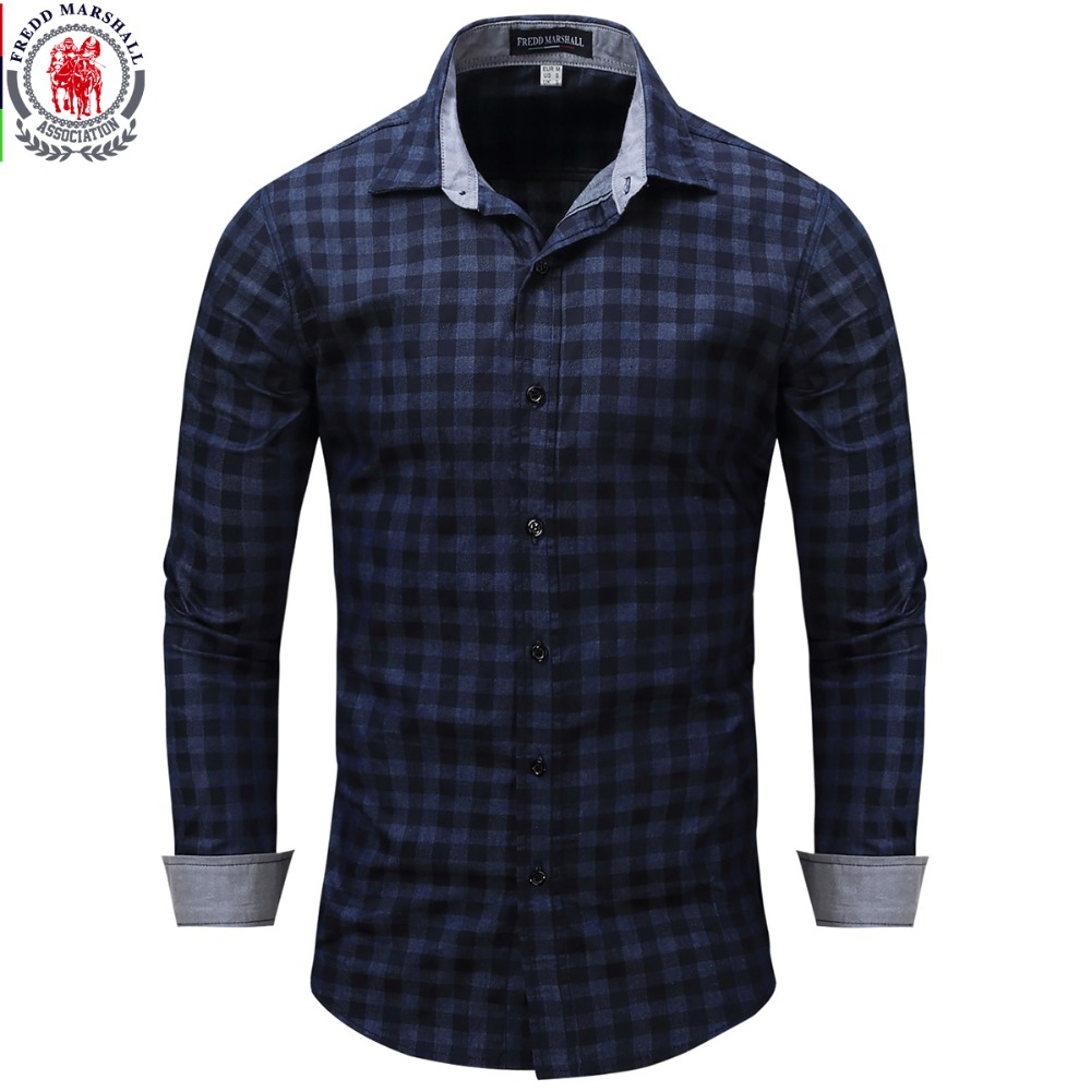New arrival men 39 s shirt long sleeve plaid shirts for In style mens shirts