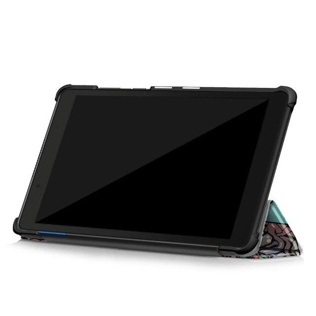 """Pour Lenovo Tab E8 TB-8304F étui 8 """"belle impression Tri-pli magnétique couverture Tab E8 E TB-8304 8304f 8 pouces tablette protecteur peau de coque"""
