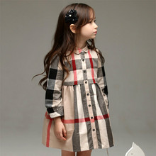 Top quality kids plaid children Girls Blouse shirts kidclothing long sleeve cotton striped children's shirts 2 4 6 8 10 12 years