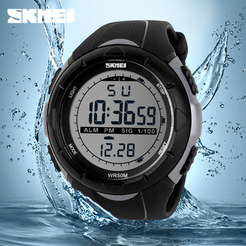 цена New Skmei Brand Men LED Digital Military Watch Dive Swim Sports Watches Fashion Waterproof Outdoor Electronic Wrist Watches 1025 онлайн в 2017 году