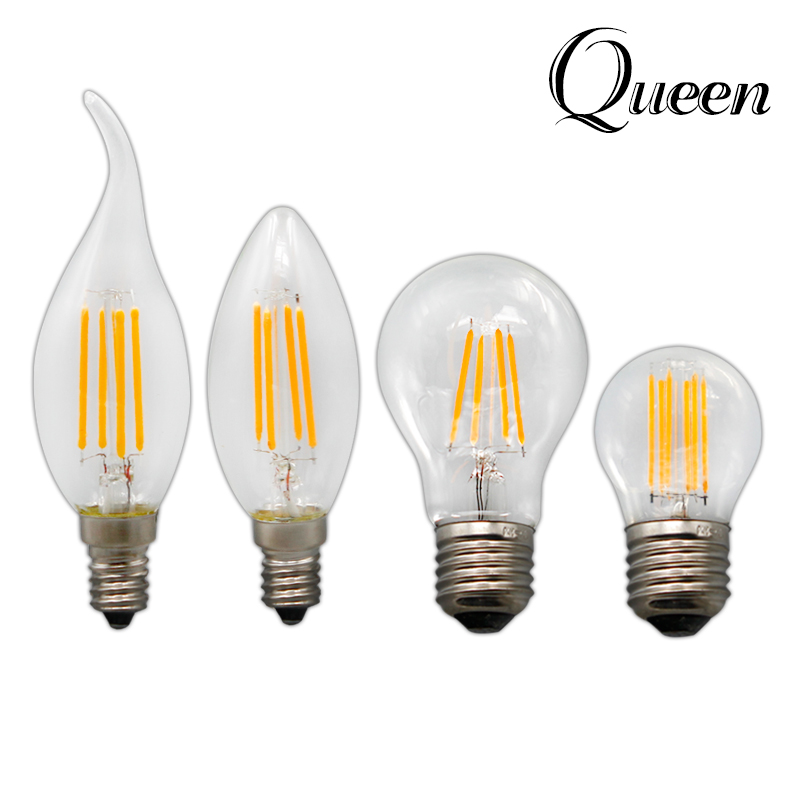 retro led edison bulb e14 e27 ampoule vintage led filament light g45 c35 lampada 220v led energy. Black Bedroom Furniture Sets. Home Design Ideas