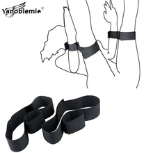 Handcuffs Sex Ankle Cuff Nylon Bdsm Bondage Sex Toys For Woman Men Adults Games Slave Restraints Open Leg Bdsm Erotic Products недорого